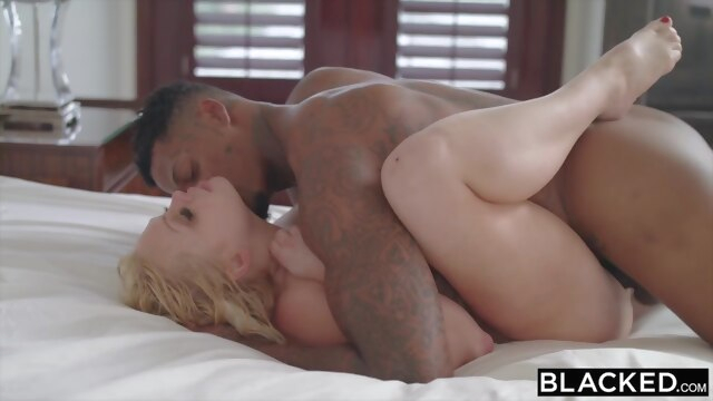 BLACKED.. big cock blonde interracial